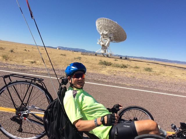 4 Wesley riding from the VLA to Socorro